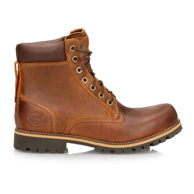 b01e69ab88c Timberland Earthkeepers Rugged 6 Inch Waterproof Plain Toe Boot (Men's) -  Copper Roughcut Dark