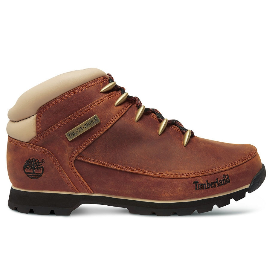 19418e92c5a Timberland Euro Sprint Hiker Walking Boots (Men's) - Red Brown