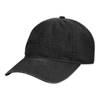 Image of Timberland Flat Logo Cotton Canvas Cap - Black