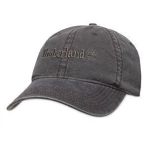 Image of Timberland Flat Logo Cotton Canvas Cap - Micro Chip