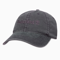 Timberland Flat Logo Cotton Canvas Cap