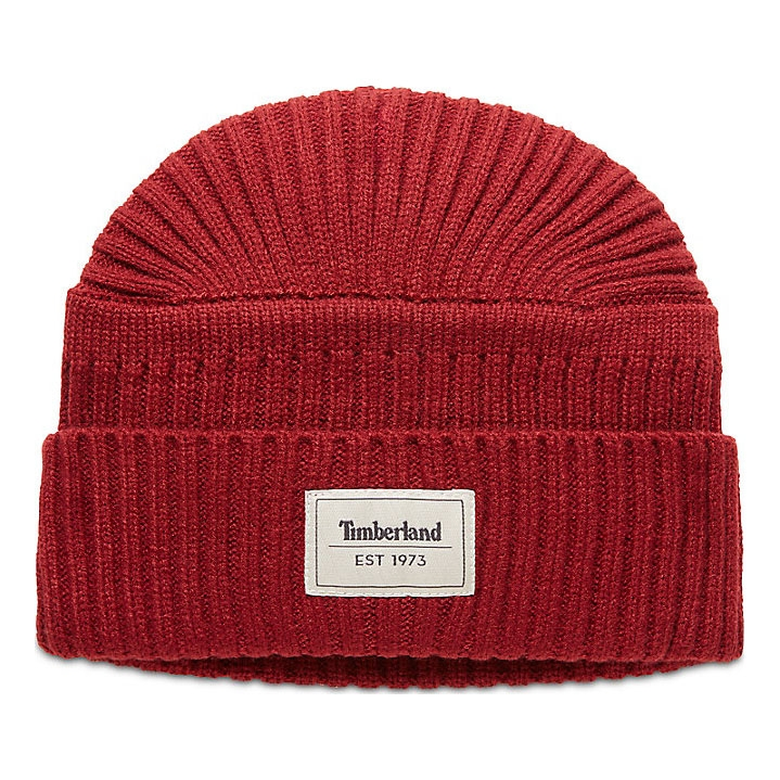 0169d75720d Image of Timberland Gulf Beach Ribbed Beanie (Men s) - Pomegranate