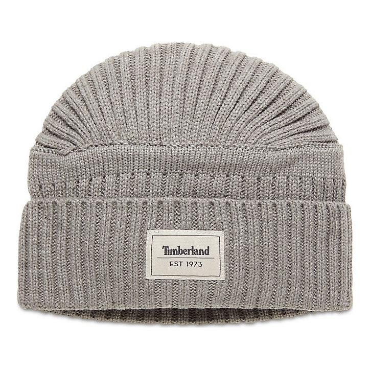 0018c469268 Image of Timberland Gulf Beach Ribbed Beanie (Men s) - Light Grey Heather