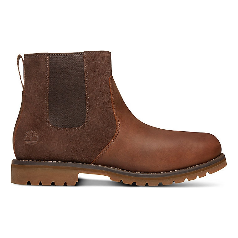 Timberland Earthkeepers Larchmont Waterproof Chelsea Boots (Men's) Gaucho Saddleback (Dark Brown) Full Grain