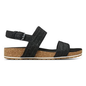 Image of Timberland Malibu Waves 2 Band Sandals (Women's) - Black Embossed Suede