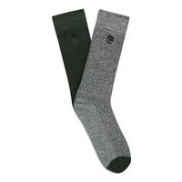 Timberland Marled Ribbed Crew Socks - 2 Pack (Men's)