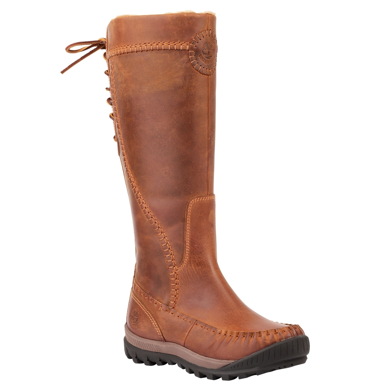 e036c073e Image of Timberland Mount Holly All-Leather Tall Zip Boot - Medium Brown