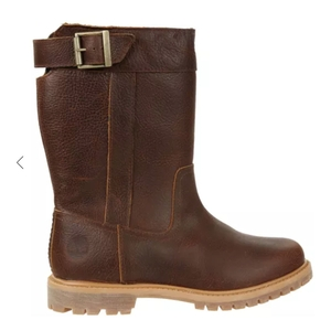 Image of Timberland Nellie Pull-On Waterproof Boots (Women's) - Medium Brown (Soil Dusk/Light Potting) Nubuck
