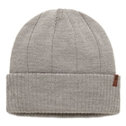 Timberland Ribbed Cuff Beanie With Leather Patch Logo (Men's)