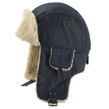250ddea2513 Image of Timberland Waxed Cotton Trapper Hat - Navy