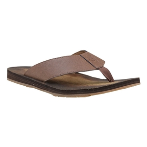 Image of Timberland Wild Dunes Leather Flip Flop (Men's) - Potting  Soil Madras Enhanced Leather