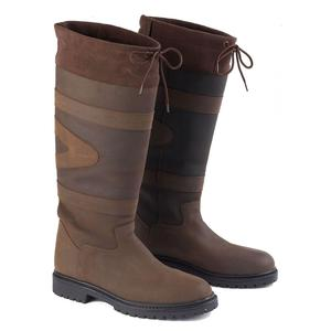 Image of Toggi Quebec Leather Country Boots (Unisex) - Chocolate