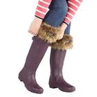 Toggi Shelburne Fur Top Welly Socks