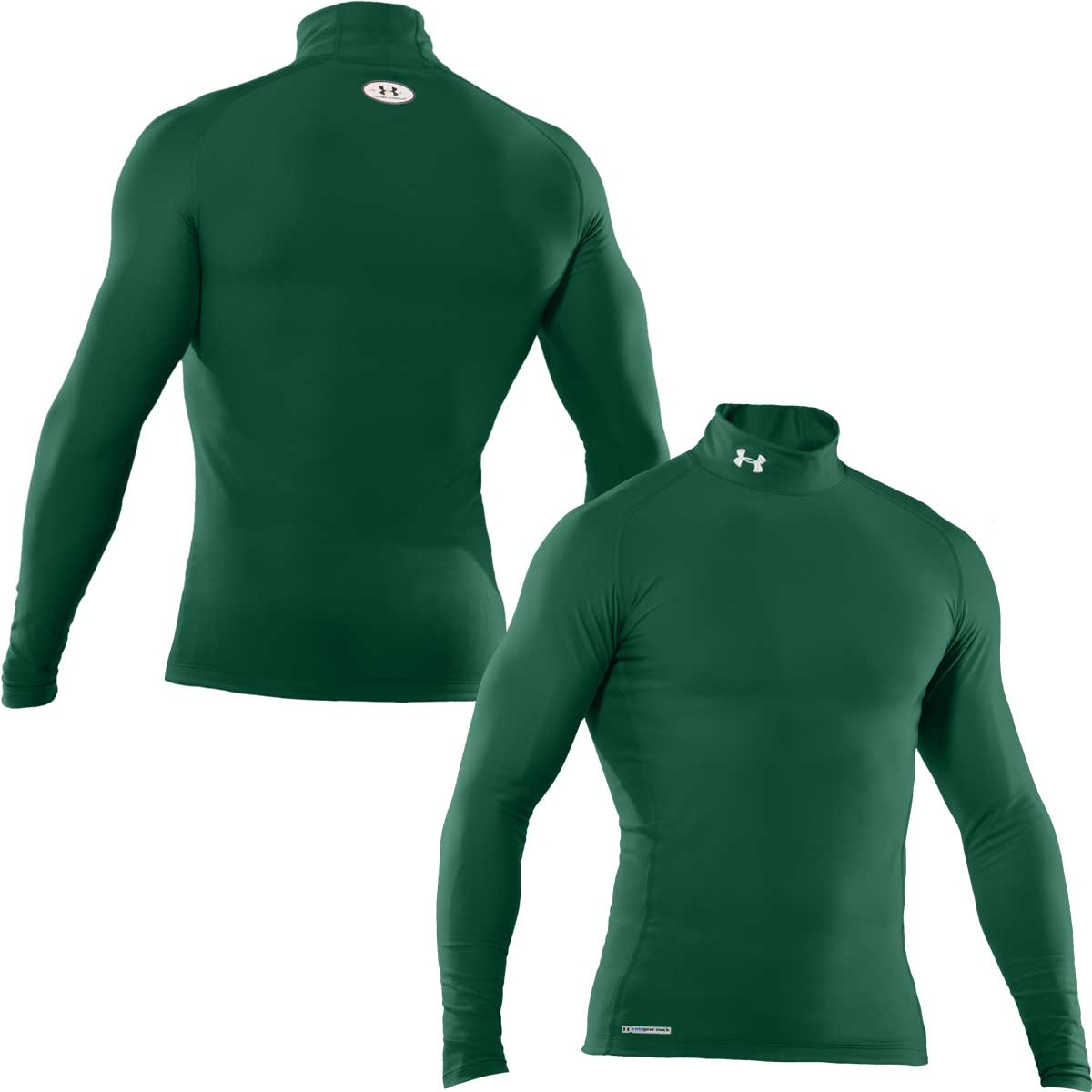 b3905c5ca Image of Under Armour EVO Coldgear Compression Mock - Mens - Forest  Green/White
