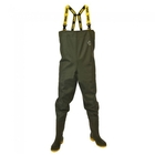 Image of Vass 700E Nova Chest Waders - Cleated Sole - Dark Green