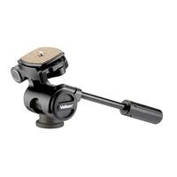Velbon PH157Q 3-Way Head with Quick Release - Black Handle