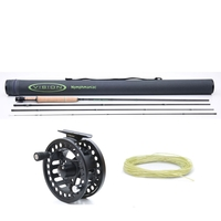 Vision 4 Piece Nymphmaniac Fly Rod - 10ft - #3 With Koma Fly Reel - #5/6 & Nymph Line #3