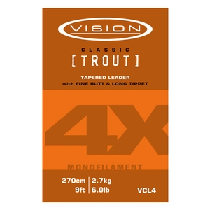Image of Vision Mono Classic Trout Leader - 9ft