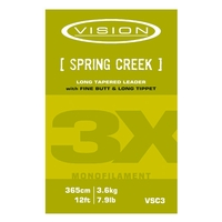 Vision Mono Spring Creek Trout Leader - 12ft