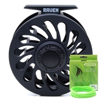 Vision Raven #5/6 Fly Reel Bundle c/w Spare Spool & Vision Attack Floating Fly Line