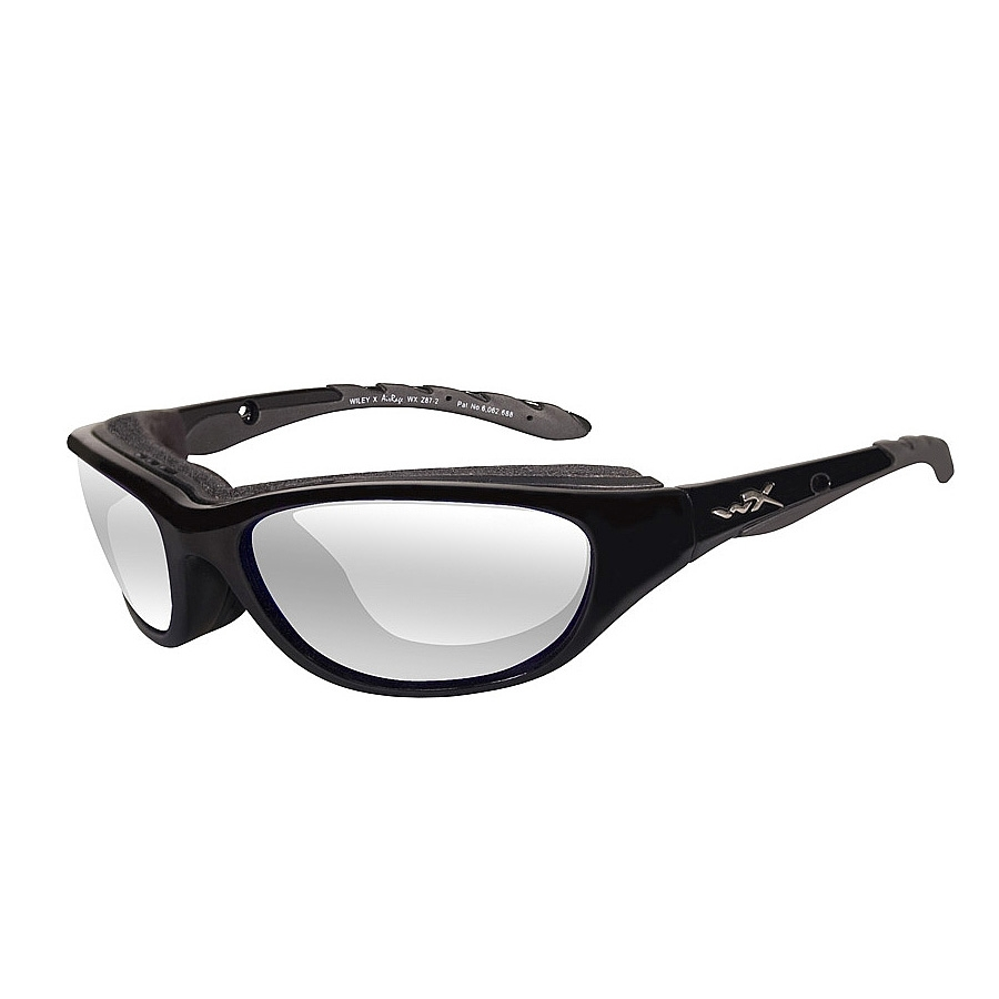 bfaa2c43838 Image of Wiley X Airrage Sunglasses - Gloss Black   Clear