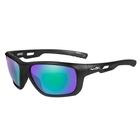 Image of Wiley X Aspect Polarized Sunglasses - Emerald Mirror Amber Lenses/Matte Black Frame