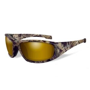 Image of Wiley X Boss Polarized Sunglasses - Kryptek Highlander / Polarized Gold Mirror