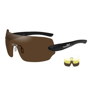 Image of Wiley X Detection Sunglasses - Clear + Yellow + Copper Lenses/Matte Black Frame