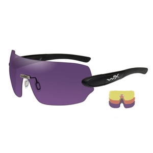 Image of Wiley X Detection Sunglasses - Yellow + Orange + Purple Lenses/Matte Black Frame