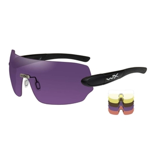 Image of Wiley X Detection Sunglasses - Clear + Yellow + Orange + Purple + Copper Lenses/Matte Black Frame