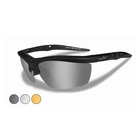Image of Wiley X Guard Changeable Sunglasses - Smoke Grey + Clear + Light Rust  / Matte Black