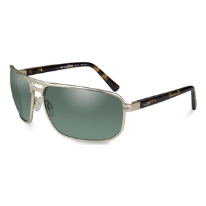 Image of Wiley X Hayden Polarized Sunglasses - Smoke Green Lenses/ Satin Gold Frame