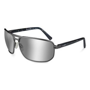 Image of Wiley X Hayden Silver Flash Polarized Sunglasses - Smoke Grey/Matte Dark Gunmetal Frame