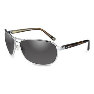 Image of Wiley X Klein Sunglasses - Smoke Grey Lenses/Silver Frame