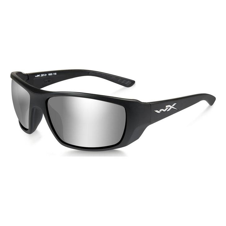 211b636bc9 Image of Wiley X Kobe Silver Flash Sunglasses - Smoke Grey Lenses Matte  Black Frame ...