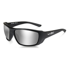 Image of Wiley X Kobe Silver Flash Sunglasses - Smoke Grey Lenses/Matte Black Frame