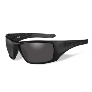 Image of Wiley X Nash Black Ops Polarized Sunglasses - Smoke Grey Lens/Matte Black Frame