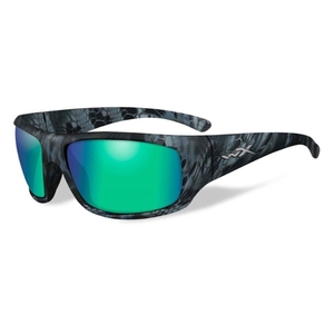 Image of Wiley X Omega Polarized Sunglasses - Kryptek Neptune / Polarised Emerald Mirror