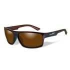 Image of Wiley X Peak Polarized Sunglasses - Polarized Amber Lens/Gloss Layered Tortoise Frame