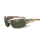 Image of Wiley X Rebel Polarized Sunglasses - Smoke Green Lens/Realtree Xtra Camo Frame
