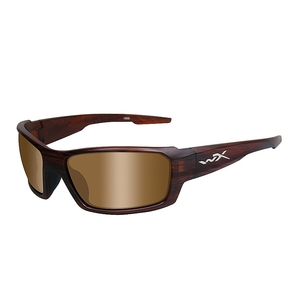 Image of Wiley X Rebel Sunglasses - Matte Layered Tortoise / Polarized Bronze