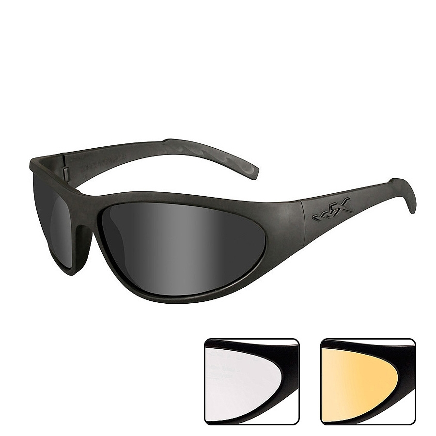 70519e48af17 Wiley X Romer 3 Sunglasses - Matte Black / Smoke Grey, Clear, Light ...