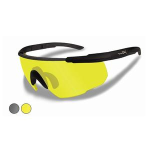 Image of Wiley X Saber Advanced Changeable Sunglasses - Smoke Grey + Yellow  / Matte Black