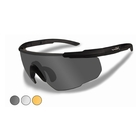Image of Wiley X Saber Advanced Changeable Sunglasses - Smoke Grey, Clear & Light Rust  / Matte Black