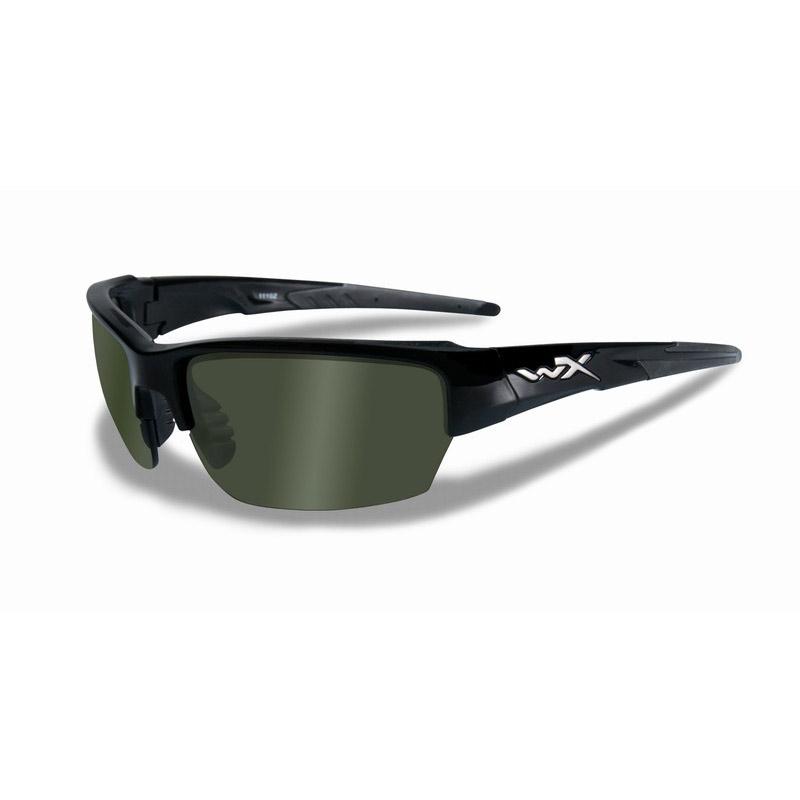 c9f3dd3887ecd Image of Wiley X Saint Polarized Sunglasses - Black Gloss   Polarized Green