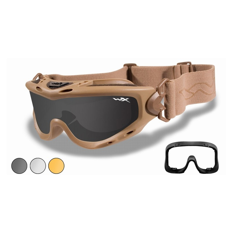 3ce9f4b63 Image of Wiley X Spear Goggles - Smoke Grey, Clear & Light Rust Lens /