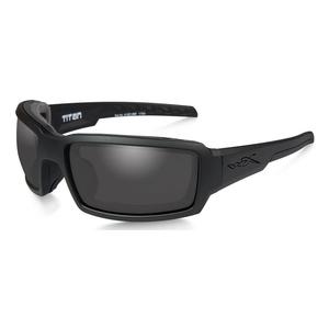 Image of Wiley X Titan Black Ops Sunglasses - Smoke Grey Lenses/Matte Black Frame