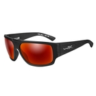 Image of Wiley X Vallus Polarized Sunglasses - Polarized Amber Lenses/Matte Black Frame