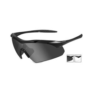 Image of Wiley X Vapor Sunglasses - Matte Black / Smoke Grey & Clear