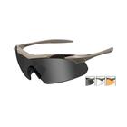 Image of Wiley X Vapor Sunglasses - Matte Tan / Smoke Grey, Clear, Light Rust